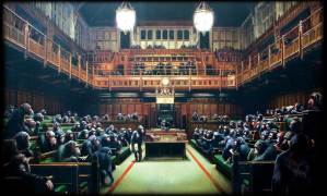 Banksy-Monkey_Parliament_Inside_painting